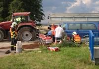 Zásah u dopravní nehody traktoru s osobním vozidlemDosud nehodnoceno.