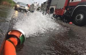 Vydatné srážky v Olomouckém a Zlínském kraji způsobily desítky výjezdů