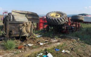 Tragický střet traktoru a vlaku