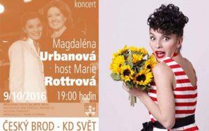 Pozvánka do Českého Brodu sMagdalénou a Marií Rottrovou